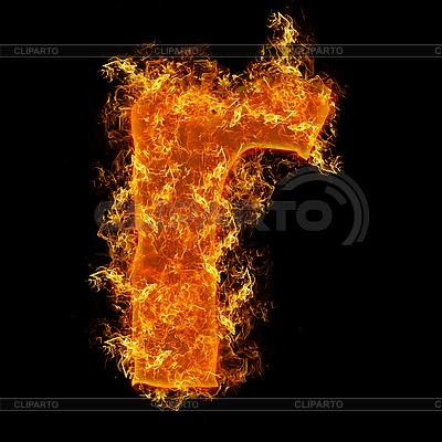 Feuer-Buchstabe R | Foto mit hoher Auflösung |ID 3027717