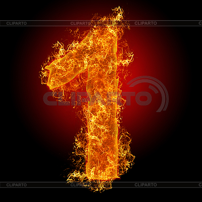 Liczba Pożar 1 | Foto stockowe wysokiej rozdzielczości |ID 3027929