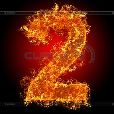 화재 숫자 2   높은 해상도 사진  ID 3027930