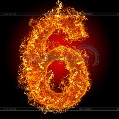 화재 숫자 6 | 높은 해상도 사진 |ID 3027934