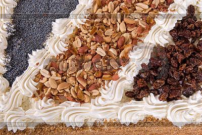 Smaczne ciasto czekoladowe z orzechami | Foto stockowe wysokiej rozdzielczości |ID 3028052