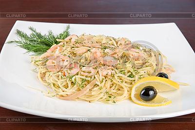 Pasta mit Garnelen | Foto mit hoher Auflösung |ID 3028121