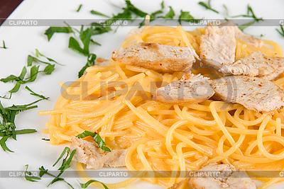 Pasta mit Hühnerfleisch | Foto mit hoher Auflösung |ID 3028130