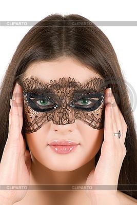 Dziewczyna w masce | Foto stockowe wysokiej rozdzielczości |ID 3028222