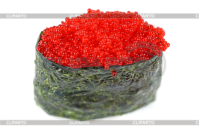 Red tobiko sushi | High resolution stock photo |ID 3028311
