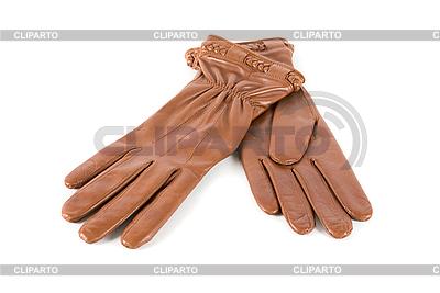 Brązowe skórzane rękawice kobiet | Foto stockowe wysokiej rozdzielczości |ID 3028526
