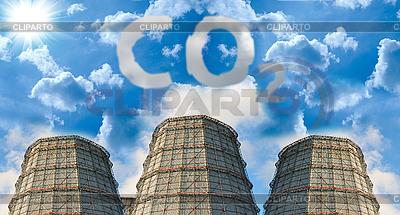 CO ₂ 오염 | 높은 해상도 사진 |ID 3028589