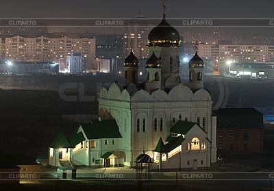 Orthodox church at night | High resolution stock photo |ID 3028647