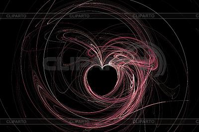 Abstract Heart on black | Stockowa ilustracja wysokiej rozdzielczości |ID 3029336
