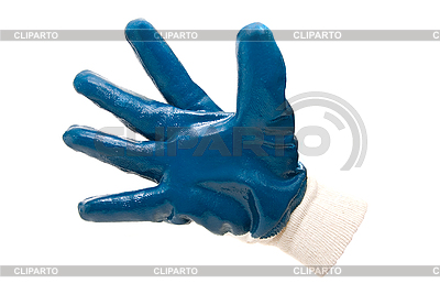 Blue work industrial glove | High resolution stock photo |ID 3029391