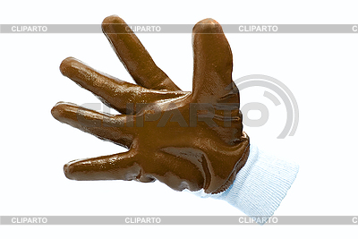 Brown work industrial glove | High resolution stock photo |ID 3029392