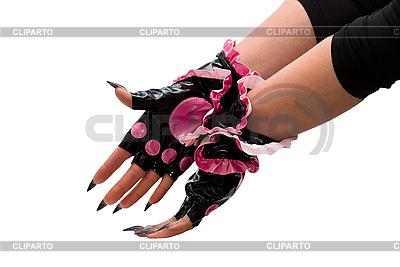 手用粉红色的手套   高分辨率照片  ID 3029479