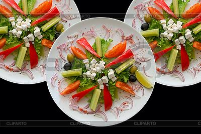 Drei Teller mit Salat | Foto mit hoher Auflösung |ID 3029491