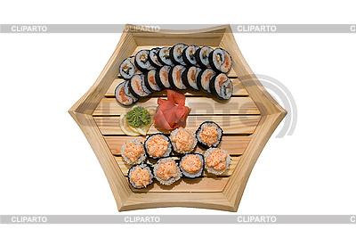 Sushi na płycie drewna | Foto stockowe wysokiej rozdzielczości |ID 3029500