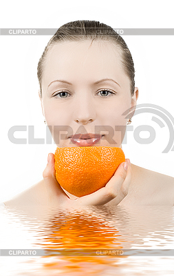Girl with orange juice | High resolution stock photo |ID 3029703