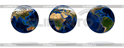 Set of earth globes | High resolution stock photo |ID 3029714