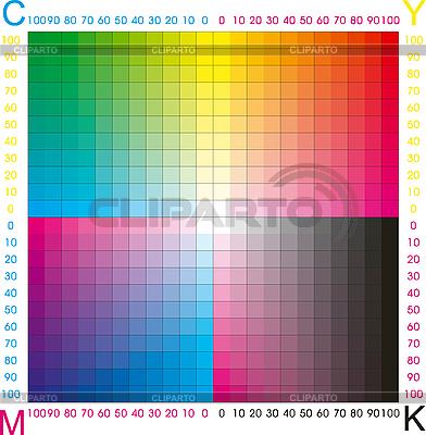 Paleta kolorów CMYK | Stockowa ilustracja wysokiej rozdzielczości |ID 3029729