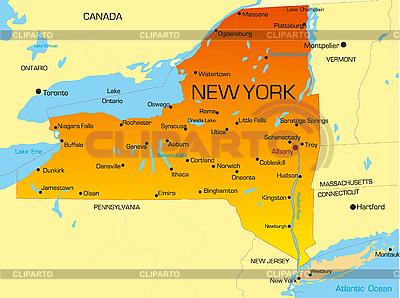 Карта штата Нью-Йорк   Иллюстрация большого размера  ID 3029801