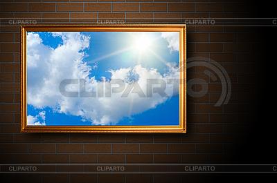 Голубое небо на картине | Фото большого размера |ID 3029957