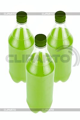 Drei Flasche grünen Saft | Foto mit hoher Auflösung |ID 3030040