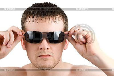 Mężczyzna w czarnym okulary | Foto stockowe wysokiej rozdzielczości |ID 3030059