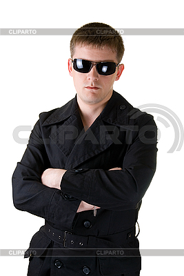 Man in black coat with sunglasses | High resolution stock photo |ID 3030238
