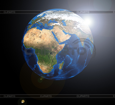 Africa on the Earth globe | High resolution stock photo |ID 3030522