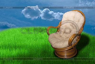 Krzesło z wikliny | Foto stockowe wysokiej rozdzielczości |ID 3030565