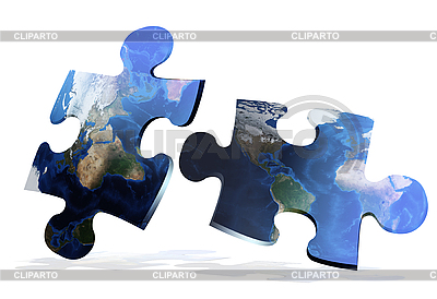 Global map puzzles comunication | High resolution stock photo |ID 3030568