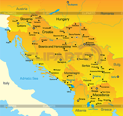 Karte von Balkan-Region | Illustration mit hoher Auflösung |ID 3030596