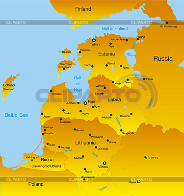 Baltic region | High resolution stock illustration |ID 3030597