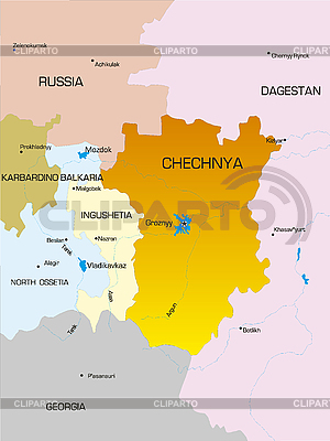 Chechenia map | High resolution stock illustration |ID 3030601