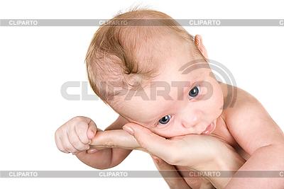 Baby auf der Hände seiner Mutter | Foto mit hoher Auflösung |ID 3030716