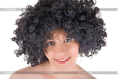 Junge Frau mit dem lockigen Haar | Foto mit hoher Auflösung |ID 3030934