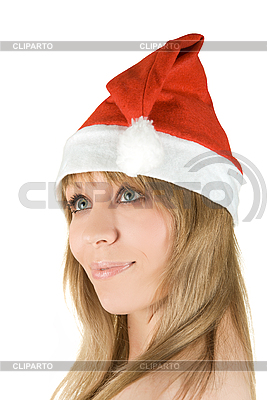 Happy pretty santa woman | High resolution stock photo |ID 3031033