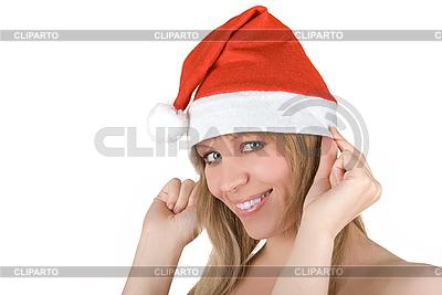 Schönes Santa-Mädchen | Foto mit hoher Auflösung |ID 3031037