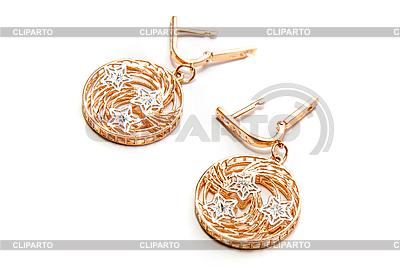 Luxury gold earring | Foto stockowe wysokiej rozdzielczości |ID 3031090