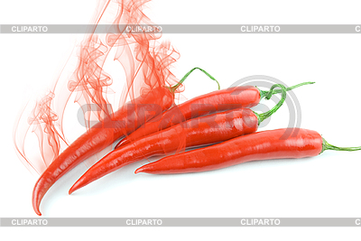 Pepper with smoke  | Foto stockowe wysokiej rozdzielczości |ID 3031402