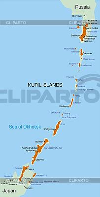 Kurilen-Inseln | Illustration mit hoher Auflösung |ID 3031437