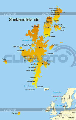Shetland Islands  | High resolution stock illustration |ID 3031443