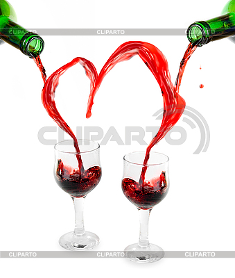 Red wine heart | High resolution stock photo |ID 3031494