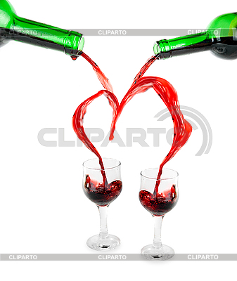 Heart from pouring red wine   High resolution stock photo  ID 3031495