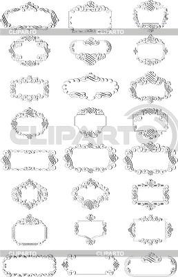 Виньетки-рамки | Иллюстрация большого размера |ID 3031512