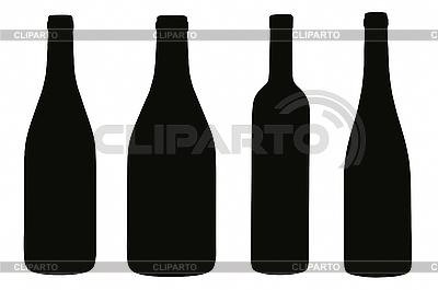 Bottles silhouettes | High resolution stock illustration |ID 3031571