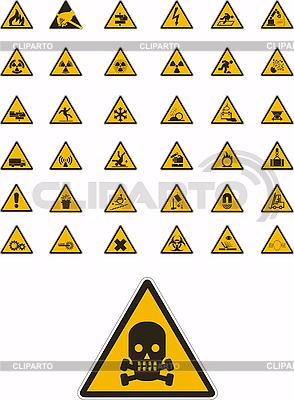 경고 및 안전 표지판 | 벡터 클립 아트 |ID 3031985