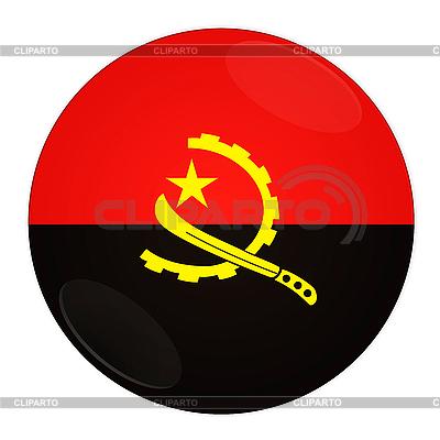 Icon mit Flagge von Angola | Illustration mit hoher Auflösung |ID 3032499