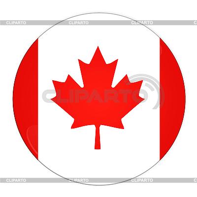 Icon mit Flagge Kanadas | Illustration mit hoher Auflösung |ID 3032514