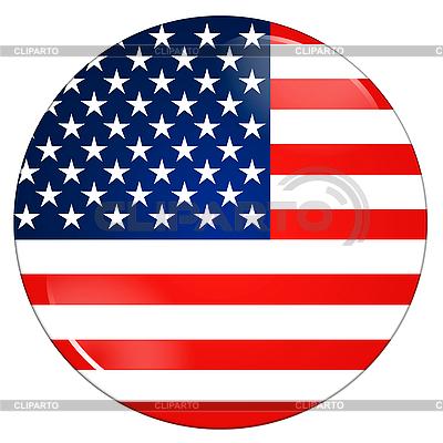Icon mit US-Flagge | Illustration mit hoher Auflösung |ID 3032627