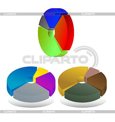 Pie chart diagrams | Stock Vector Graphics |ID 3034746