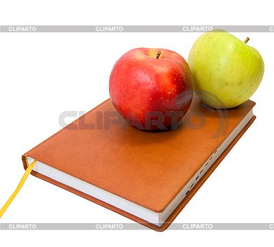 Książka pamiętnik i jabłka | Foto stockowe wysokiej rozdzielczości |ID 3034887